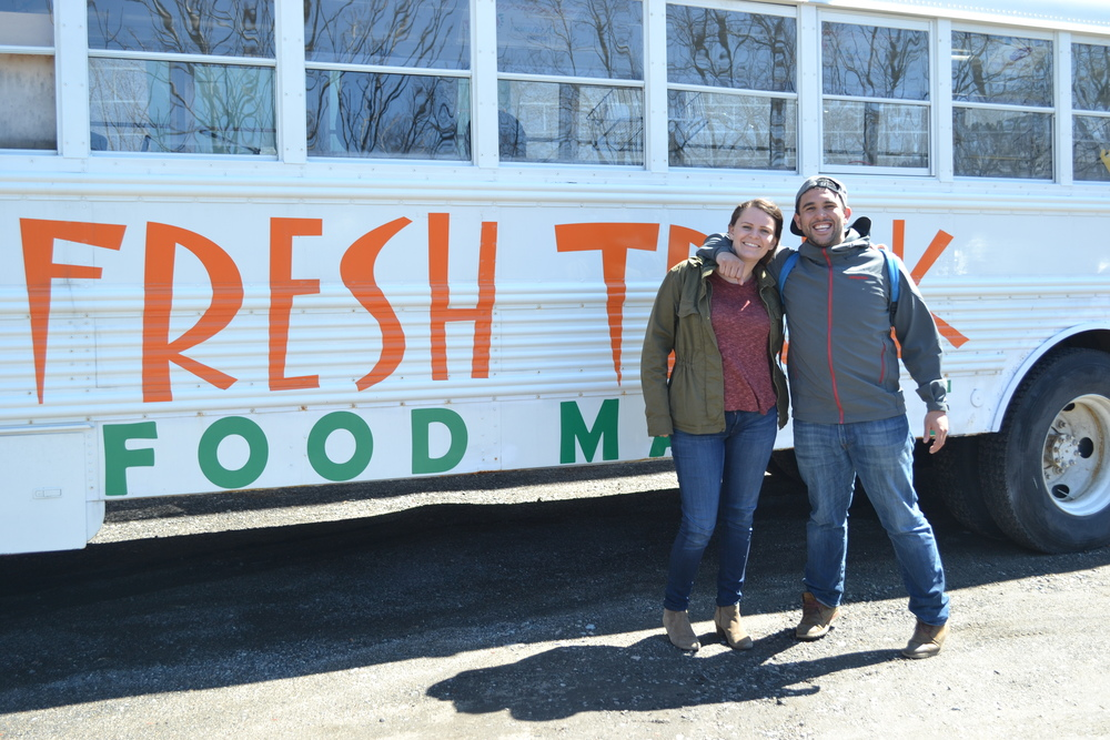 Josh and Fresh Truck Marketing Director Annika Morgan