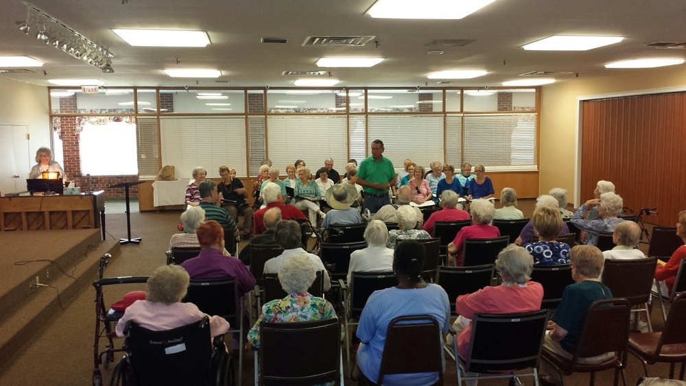 Silvertone Music Ministry singing at Magnolia Manor Assisted Living.