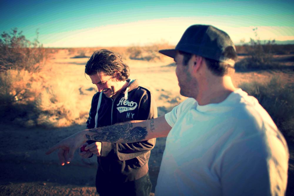 David Castro (Left) and Kyle Waters Geller (Right) taking a break in between scenes.