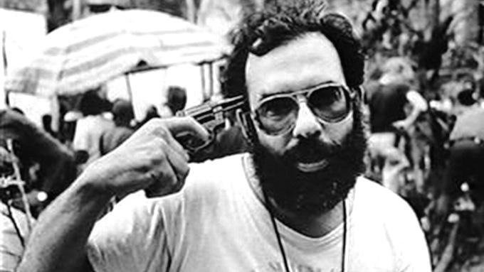 Francis Coppola on the set of 'Apocalypse Now'.