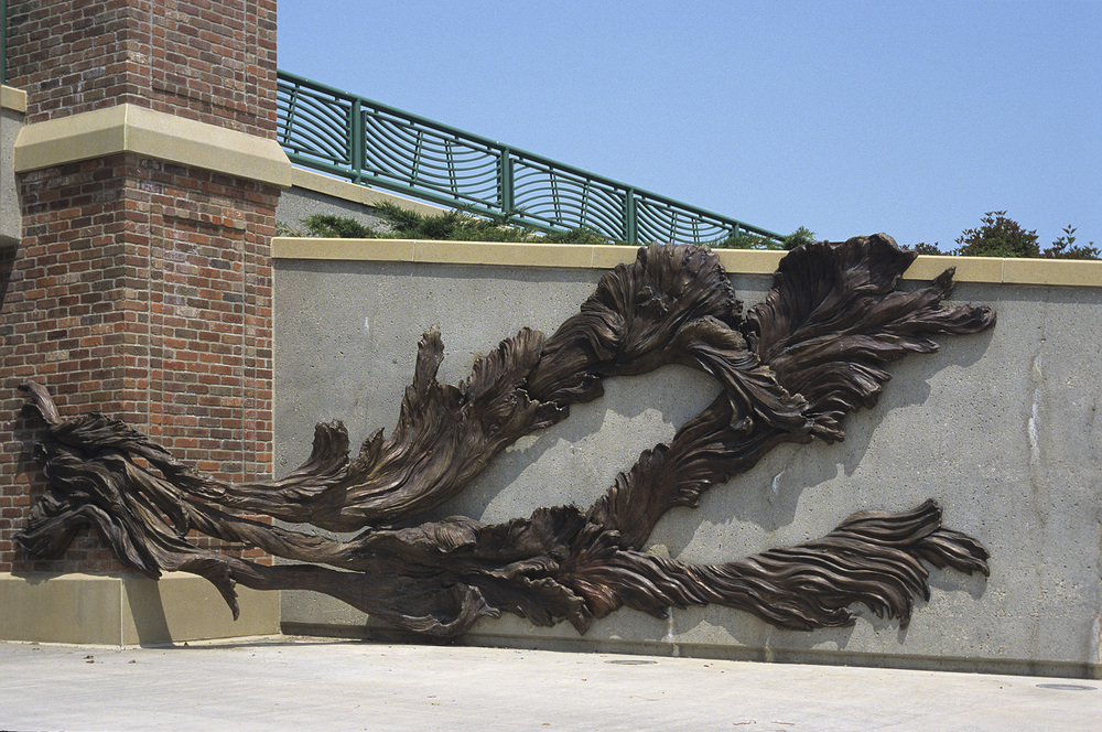 Floodwaters , bronze section, south wall, 26' x 12' x 3'