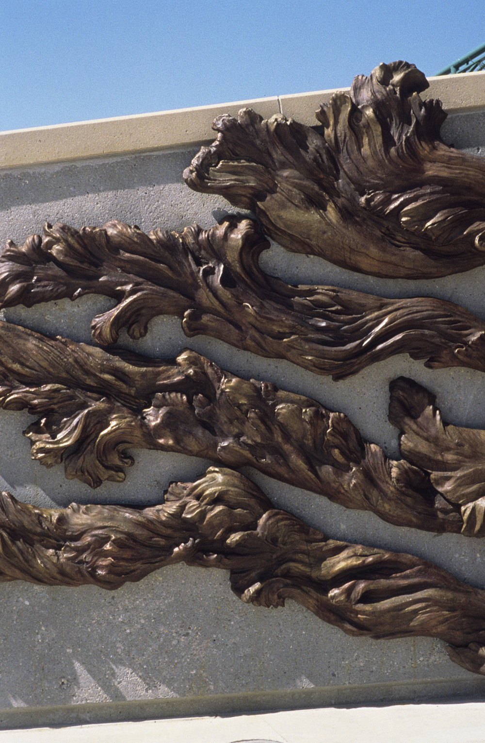 Floodwaters , bronze detail
