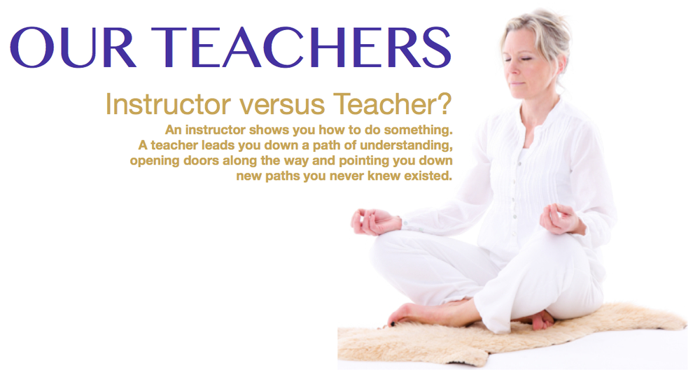 Yoga from the Heart Instructor Vs. Teacher