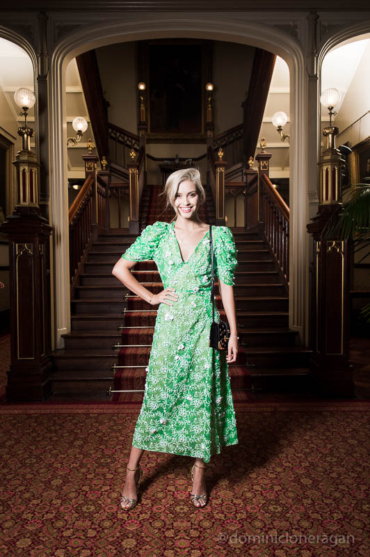 Sarah Ellen wearing Prada.