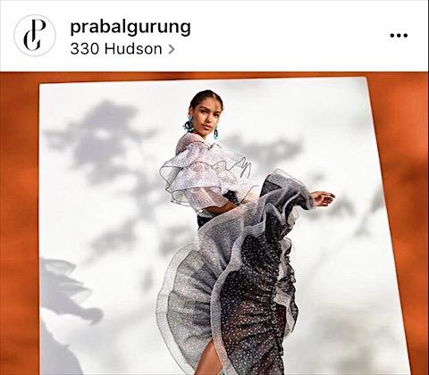 Photo credit @PrabalGurung via Instagram
