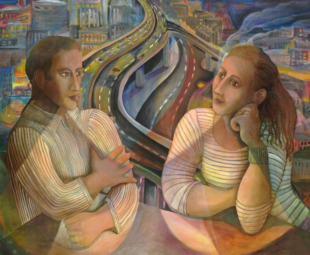 """Self Portrait"", acrylic on canvas, 24""x18"", 2010"