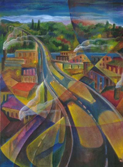 """Harriet's Viaduct"", acrylic on canvas, 16""x20"", 2005"