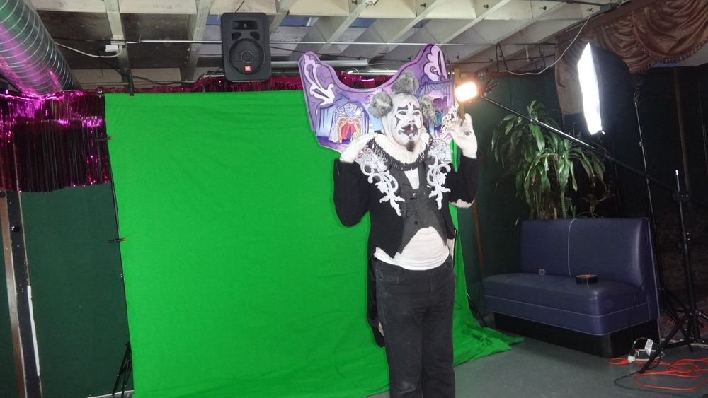 Behind the scenes at the green screen shoot for Mystic Midway augmented reality content