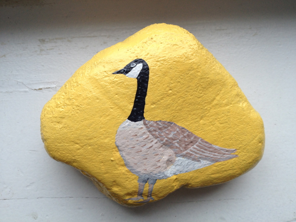 "CANADA GOOSE   This lovely stone measures approximately 5 1/2"" by 4 1/4"".  SOLD"