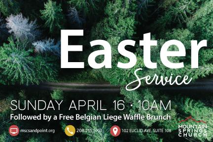 Easter Flier - Front