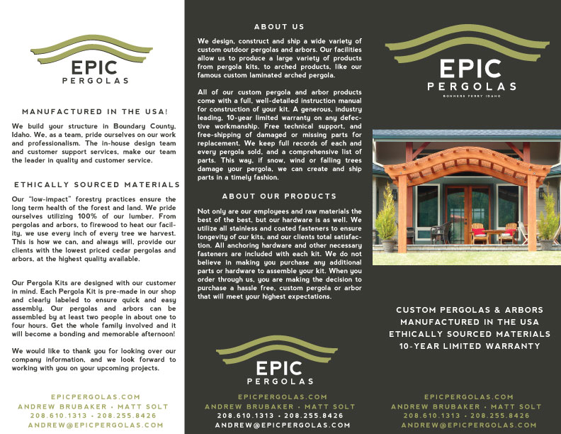 Tri-Fold Brochure - Outside