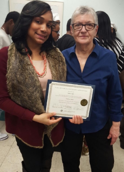 A graduate of Our NewEst Culinary Arts TRAINING PROGRAM with program director Barbara Hughes