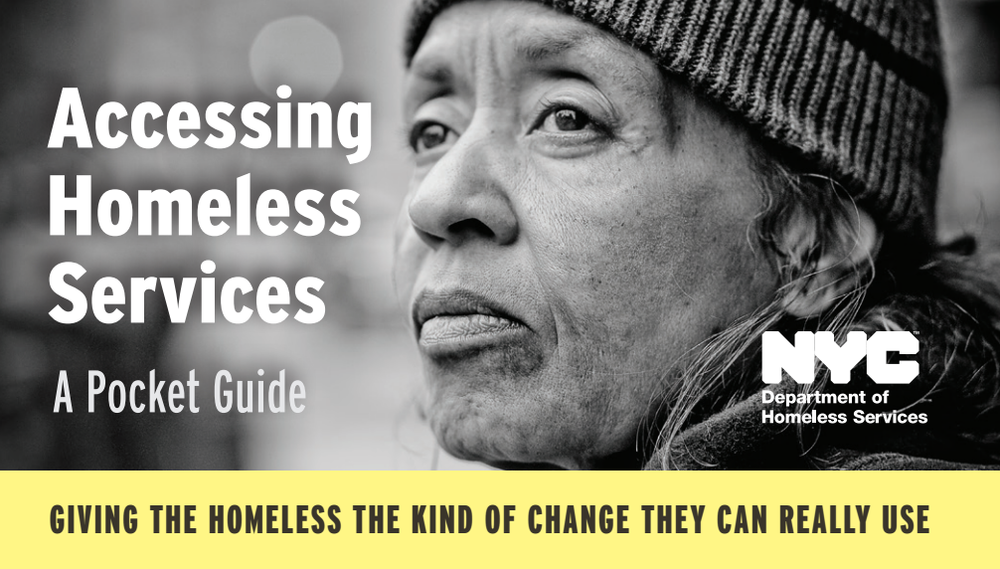 "Download the Department of Homeless Services' ""Accessing Homeless Services"" in PDF"