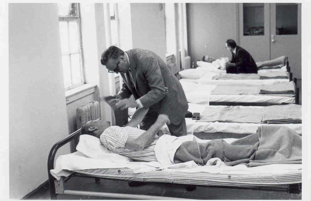Men who were living on the Bowery received medical detox treatment at Project Renewal, starting in 1967