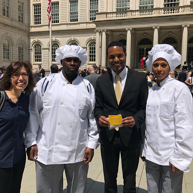 Two students from our Culinary Arts Training Program graciously shared what they've learned and their goals for the future with Council Members at City Hall. Thanks to all the Council Members we connected with for taking the time to engage with our amazing students!