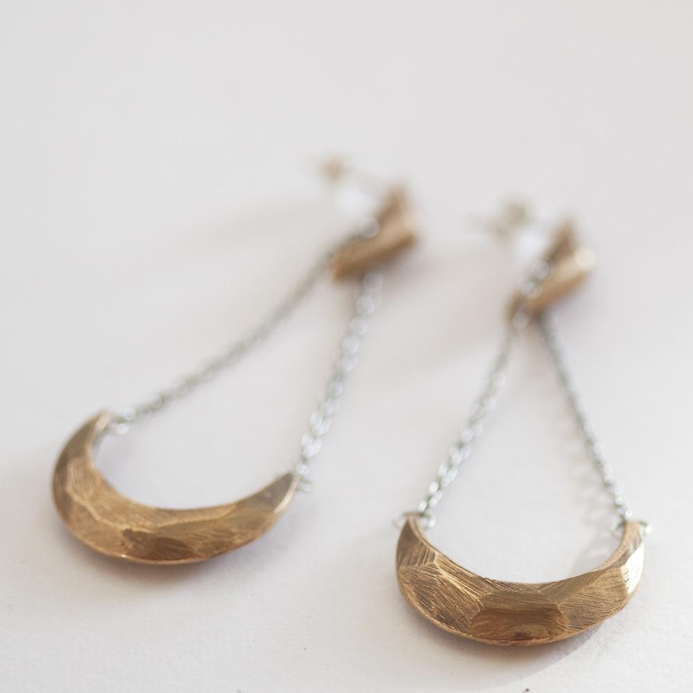 amano-carrierpigeon-bronze-cast-cresent-moon-earring-faceted-handmade.jpg