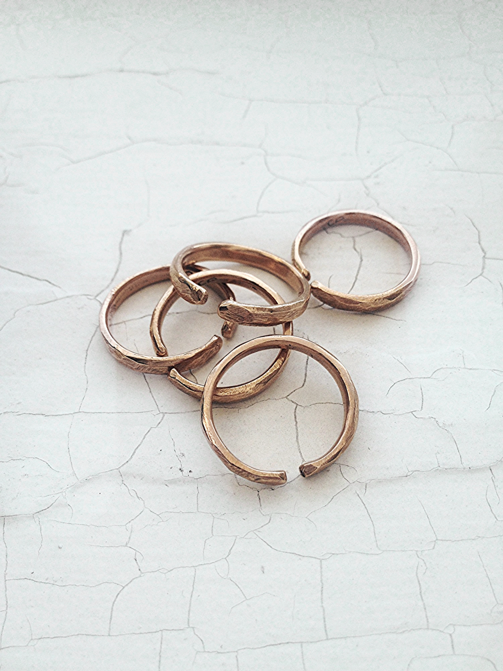 Ajustable Drift Rings in Bronze.
