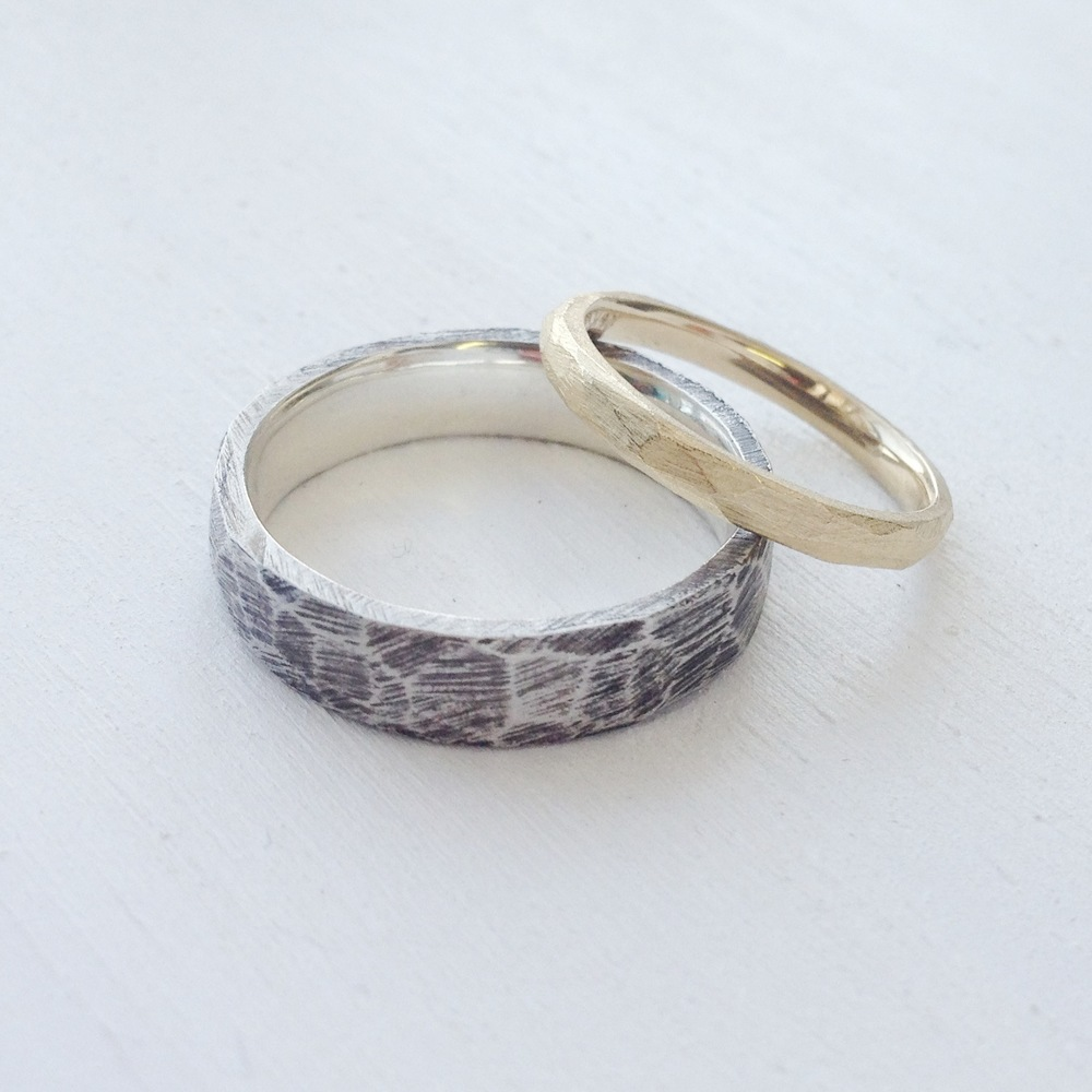 Silver + Gold Band Set