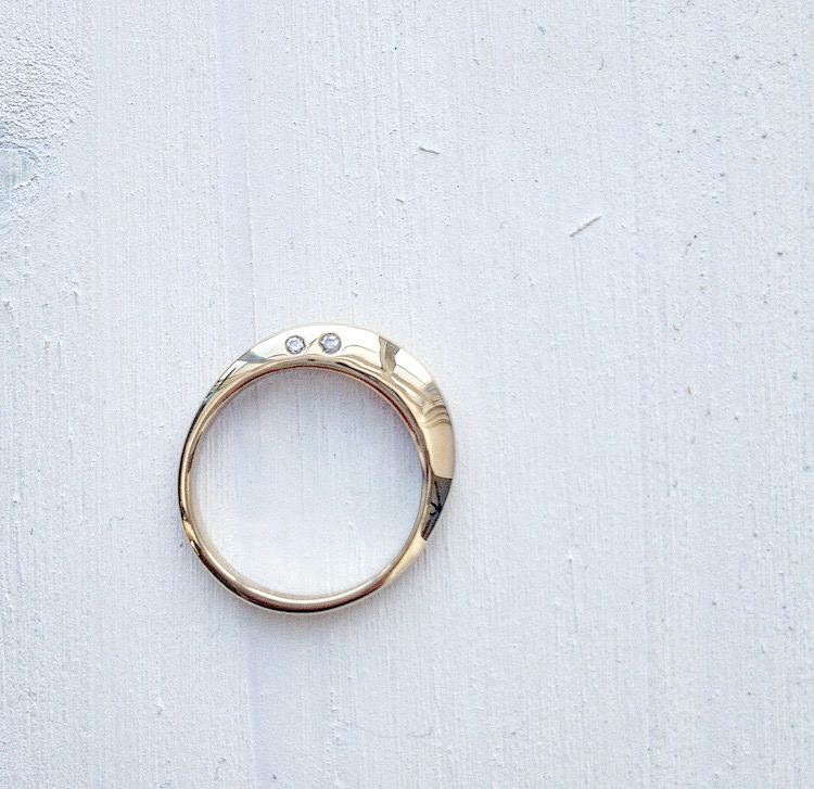 14k Gold Engagement Ring + Diamonds