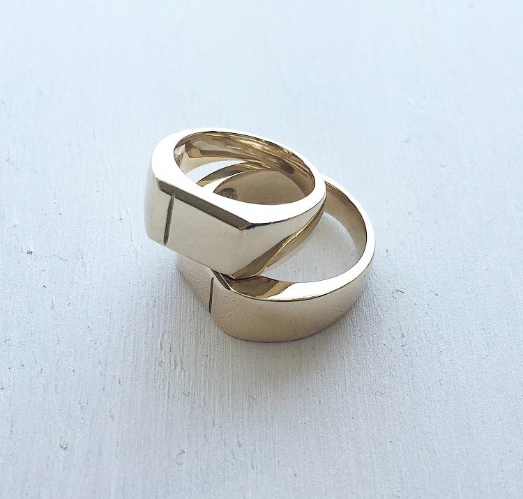 Custom Gold Signet Rings
