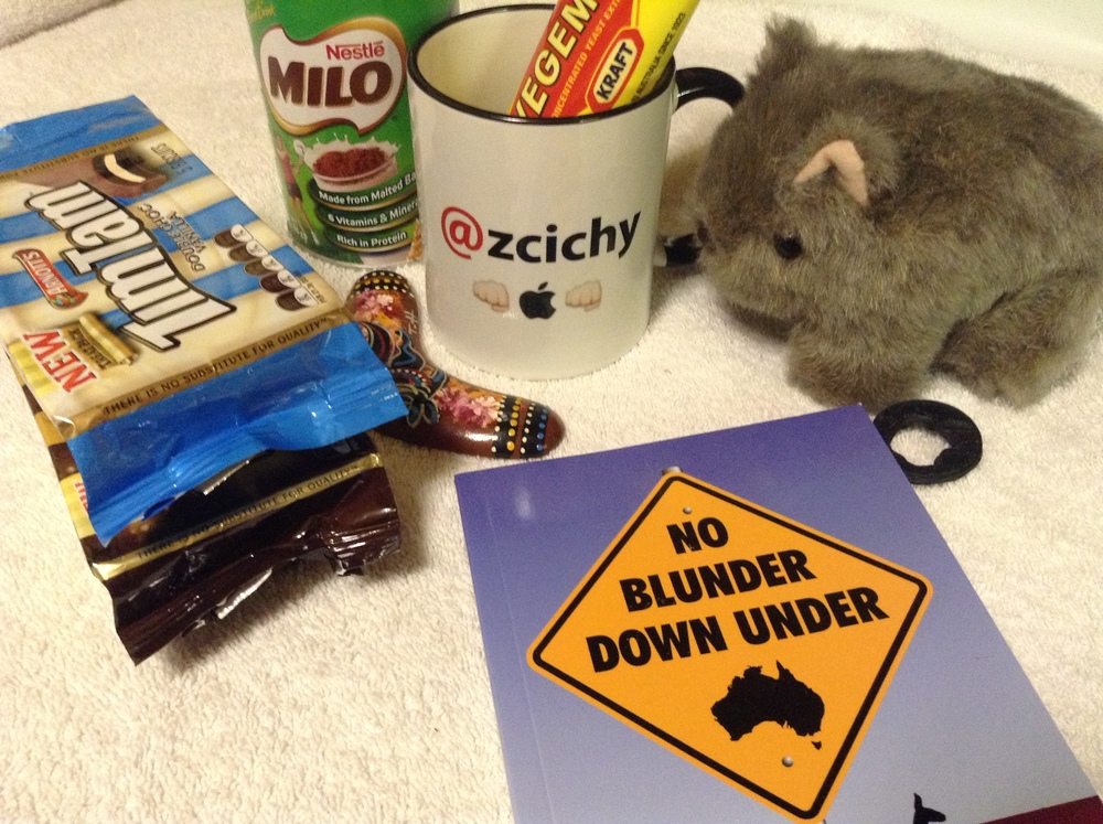 So much amazing stuff! Vegemite, Milo, and a Boomerang too!