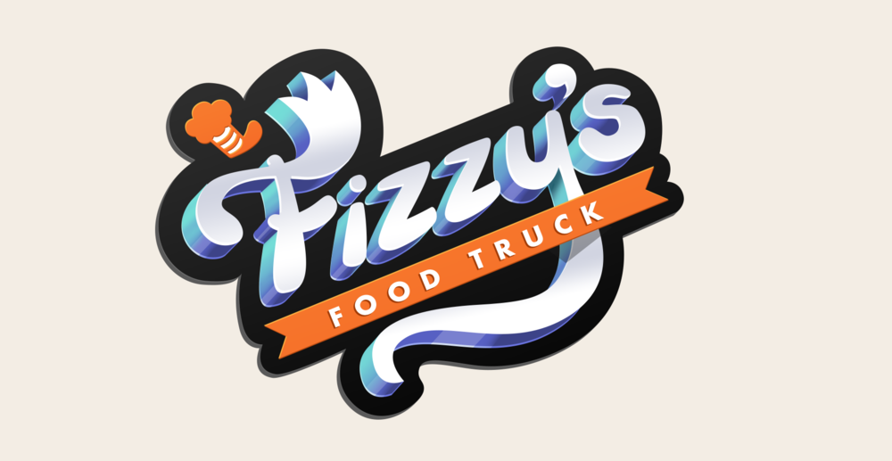 Final Fizzy's Food Truck logo design with polish