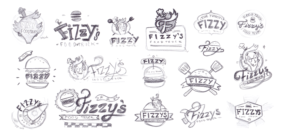 Various logo sketches