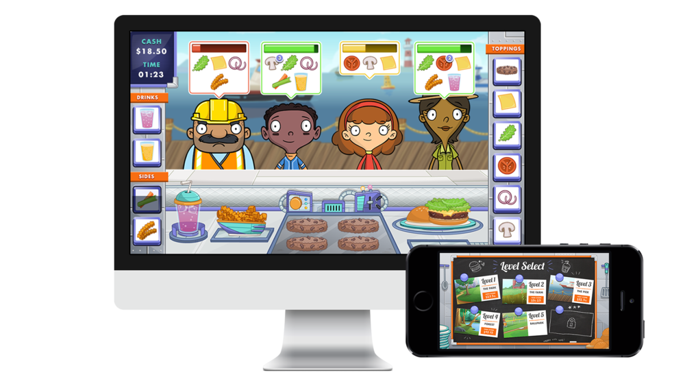 Final responsive game UI designed to match branding