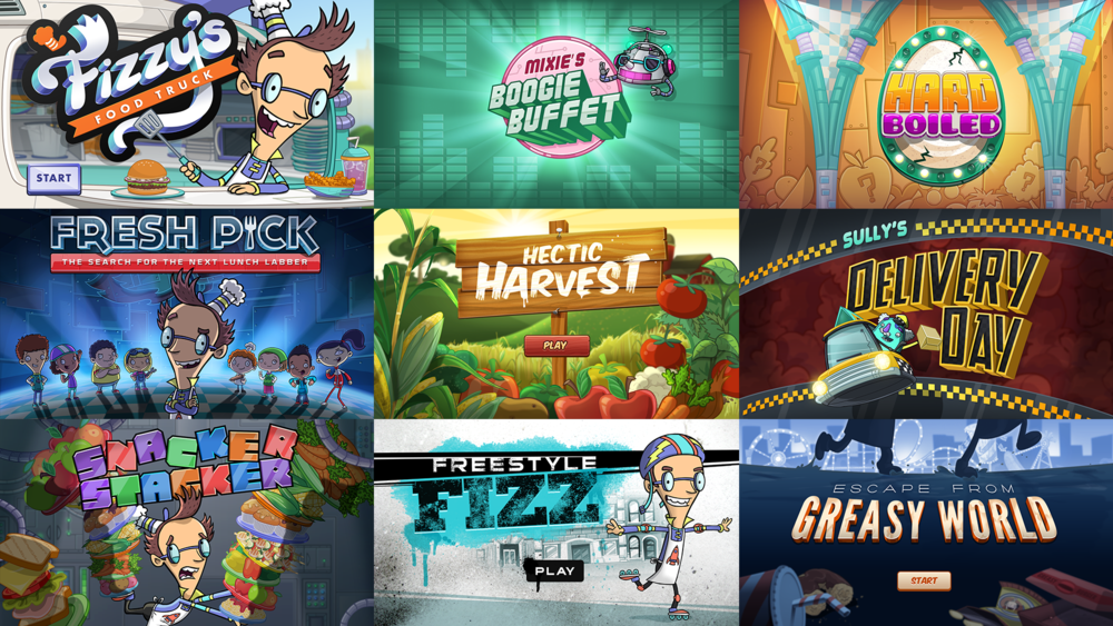 Fizzy's Food Truck alongside other Lunch Lab games I worked on