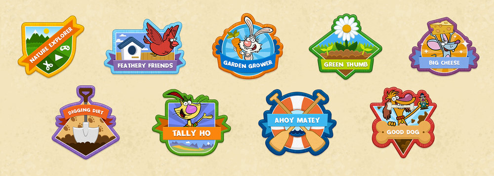 Final unlocked badge designs