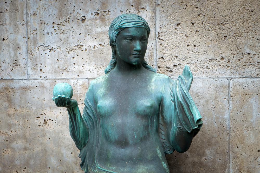 Clark Library Statue