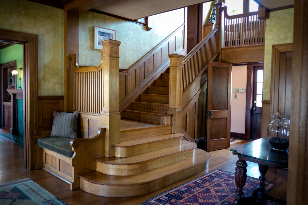 Staircase in a 1910 Craftsman