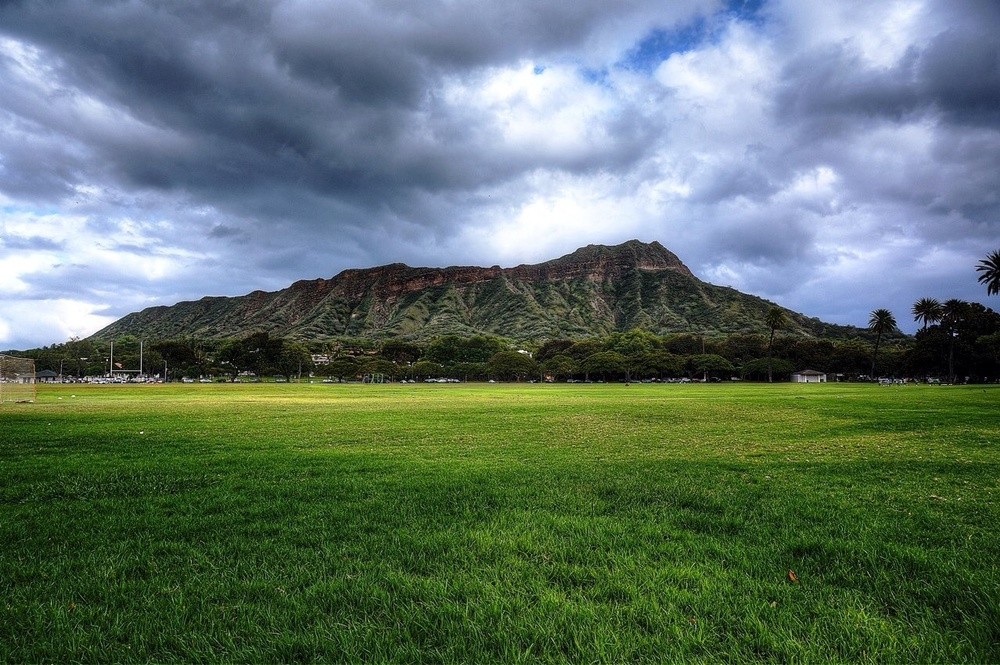 Diamond Head from Kapiolani Regional Park