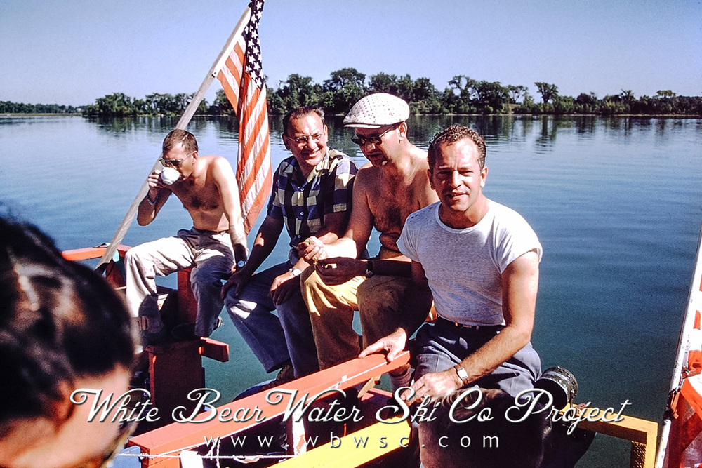 Pictured left to right:Gordon Nelson, Dr. Elmer Schroth, Carl Dokomo, and Tuch (W.C.) Tuchfarber,1955 (Photograph by Tom Weinhagen, courtesy of the Weinhagen Family)