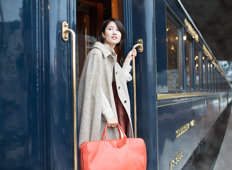 Location: Paris Venue: Venice Simplon Orient Express Clothing: YolanCris Luggage: Longchamp