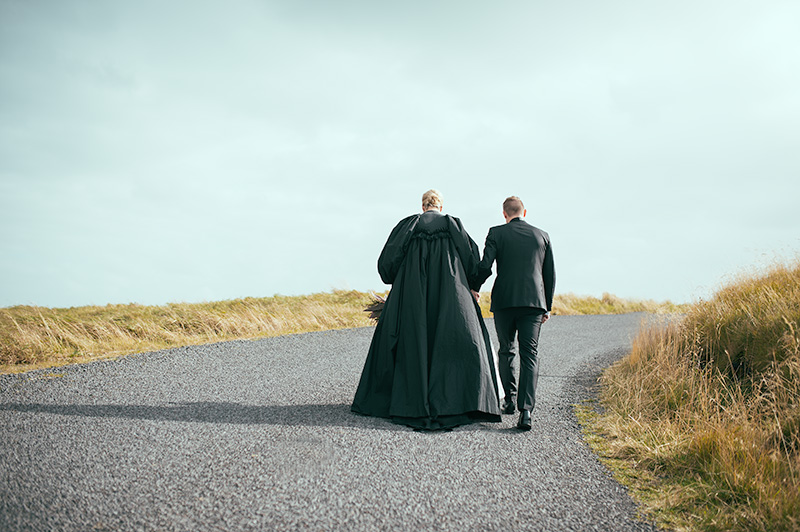 My favourite photo from the wedding editorial I shot in Budir, Iceland. The road ahead...