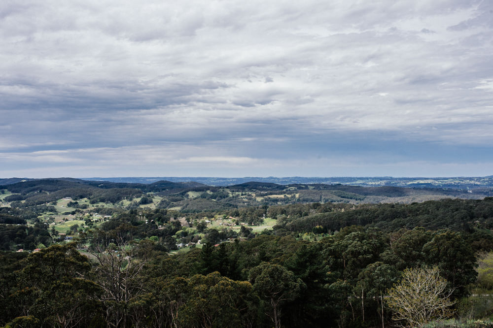 Adelaide Hills view from Mount Lofty House. Photo by Nicholas Purcell Studio
