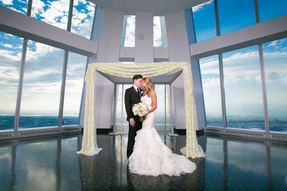Aspire at One World Observatory Bride and Groom .jpg