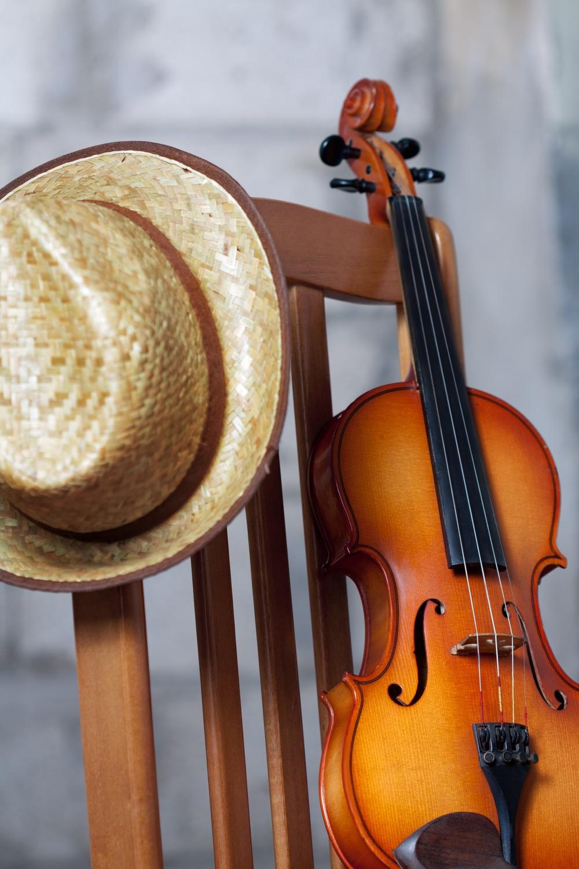 Violin w:hat on chair.jpg