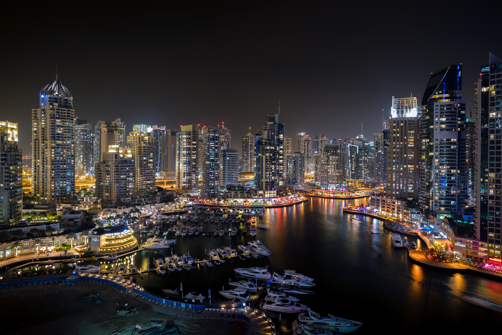 "My usual ""first shot"" with any new camera/lens.  The Dubai Marina from my balcony (Click to enlarge)"