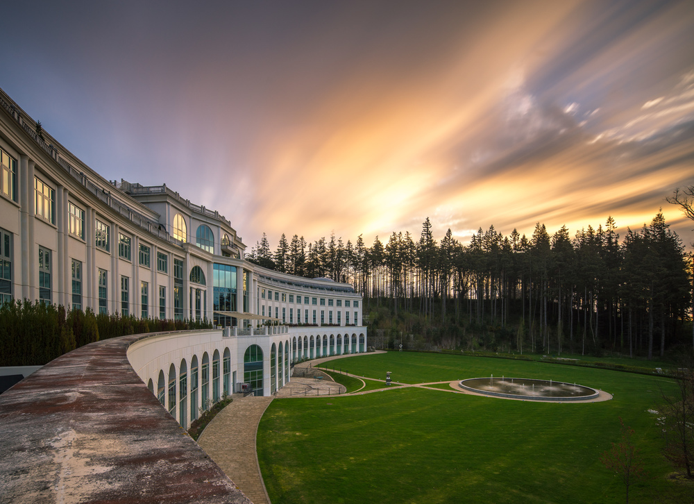 Sunrise at the Powerscourt, Dublin, Ireland (A7r, 17mm TS-E, Lee Big Stopper)