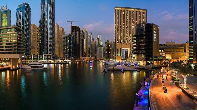 The Dubai Marina #dubai #cityscape #sonya7ii #bluehour #travel #citylights #longexposure