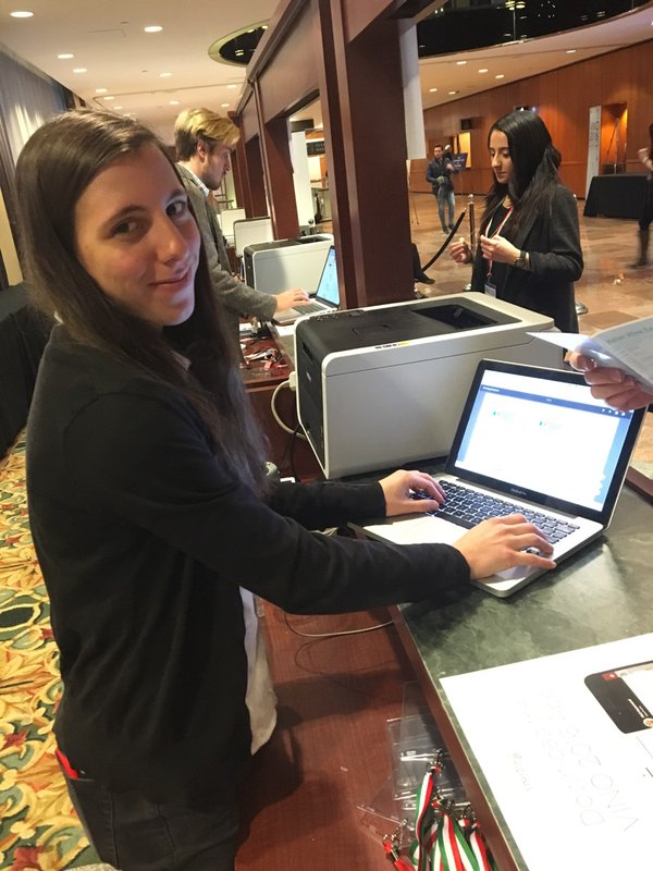 Simple check-in at registration counter as guests pick up their personalized event badges
