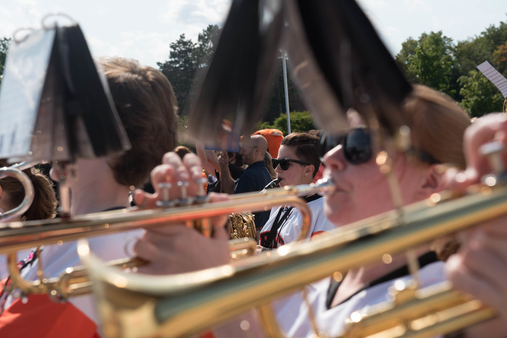 RIT's pep band is completely student-run and performs at all large university events.