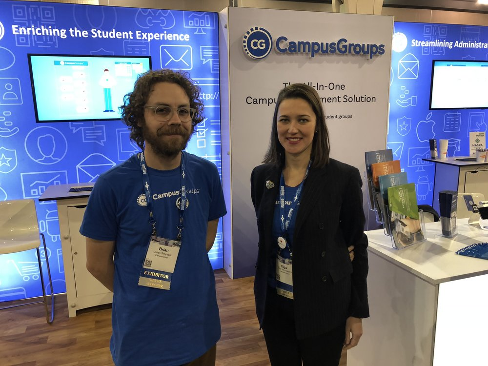 Olga and Brian focus on strategy and marketing for CampusGroups. NASPA gave them the perfect opportunity to meet educators and learn more about what they need from a technology partner.