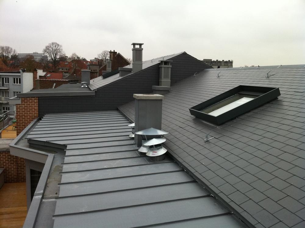Ds constructions toitures charpentes for Couverture en zinc joint debout