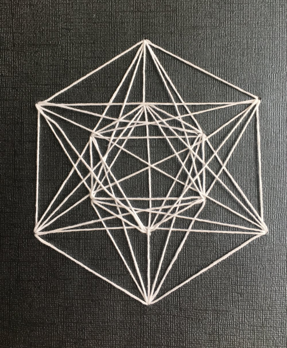 Geometric String Art Arts Crafts Ideas