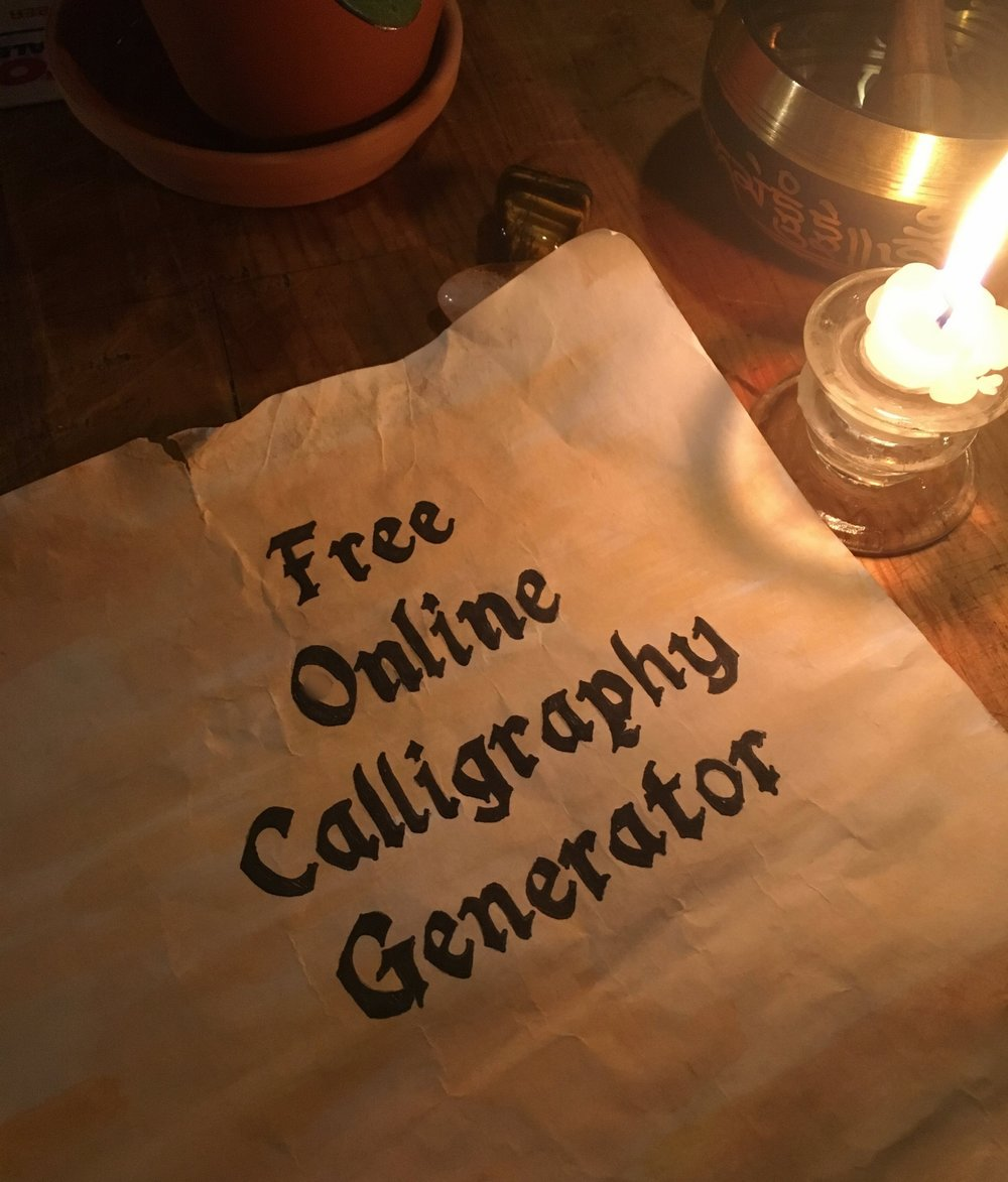 Free Online Calligraphy Generator Windows Mac Ipad Arts