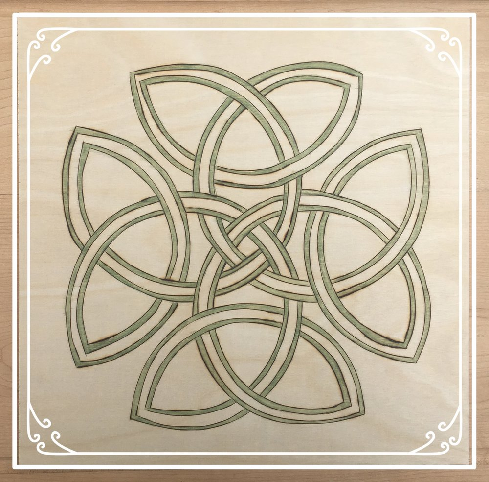 celtic wood burning tutorial - arts & crafts ideas