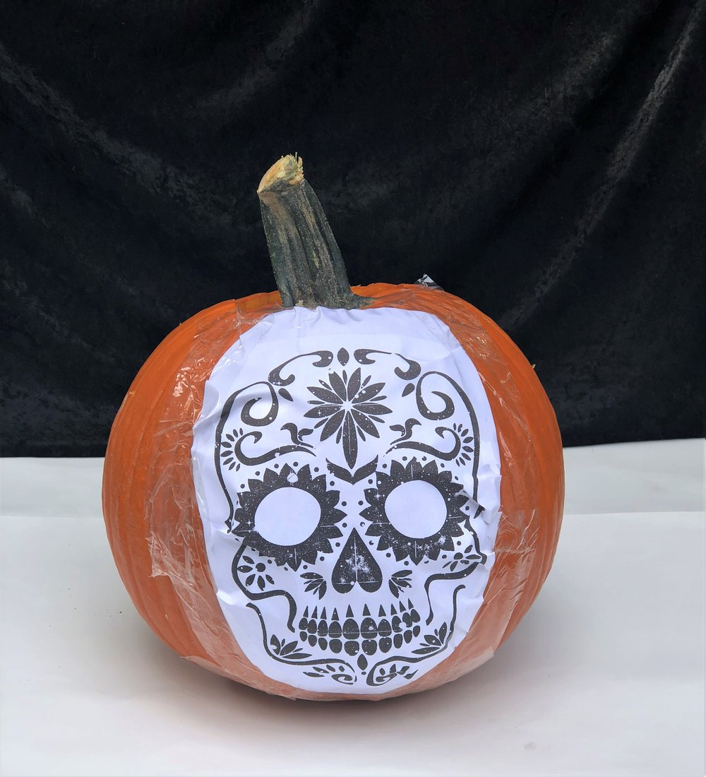 I Cut Some Of The Shapes All Way Through Pumpkin With A Knife And Carving Tools Then Used Tip Vegetable Peeler To Connect